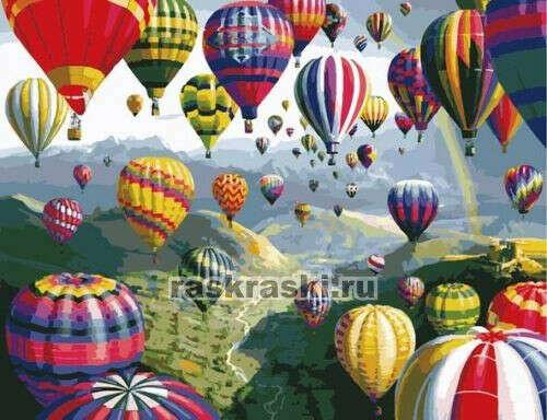Раскраска по номерам Menglei «Воздушные шары»