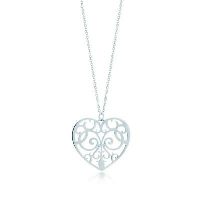 Tiffany & Co. - Tiffany Enchant® heart pendant in sterling silver, medium.