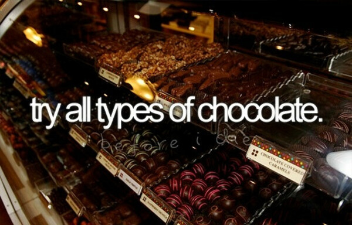 Попробовать все сорта шоколада