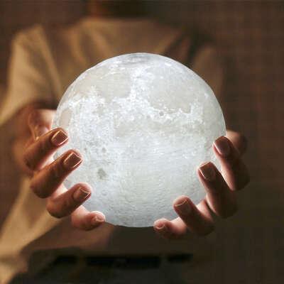 Светильник ночник луна, сувенир светящаяся луна, необычный подарок