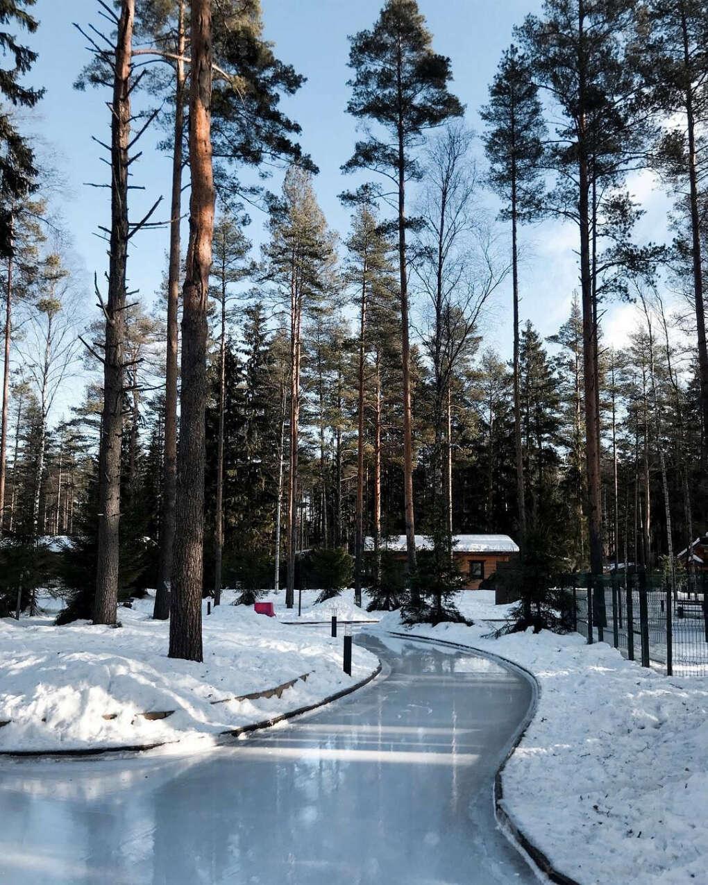 Покататься на коньках в Охта парке
