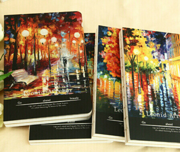 The rainy city night A5 B5 Sketchbook 144 Pages Thick Notepad Journal Sketch Book Students Stationery Supplies Retail Gift купить на AliExpress