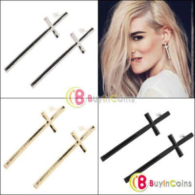 Новые симпатичные женские серьги в форме креста E035 в стиле ретро винтаж.
