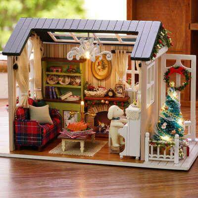 DIY миниатюрный кукольный домик