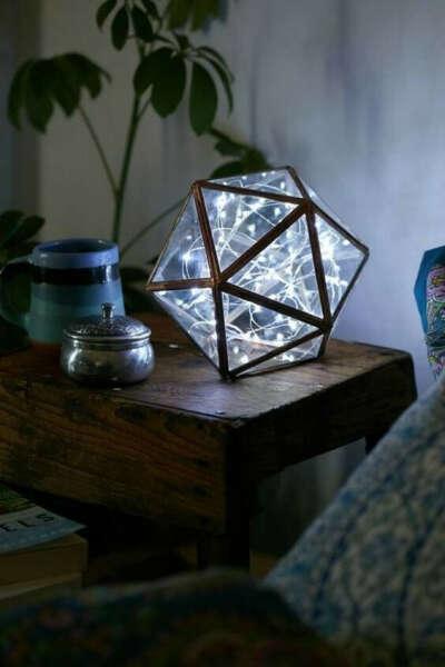 Геометрический стеклянный ваза-светильник