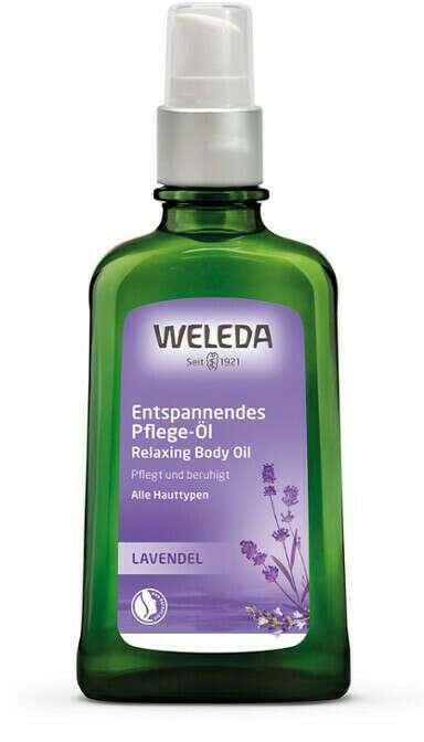 Лавандовое расслабляющее масло для тела weleda