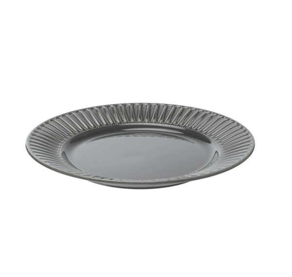 STRIMMIG СТРИММИГ Тарелка десертная, каменная керамика серый 21 см