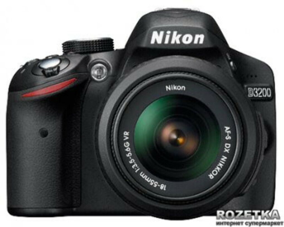 Nikon D3200 18-55mm VR II Kit Black (VBA330K009) Официальная гарантия! + карта памяти 32гб + сумка + штатив!