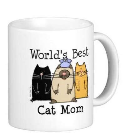 Маме чашку с котами