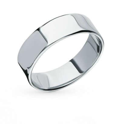 широкое серебряное кольцо без камней и вставок