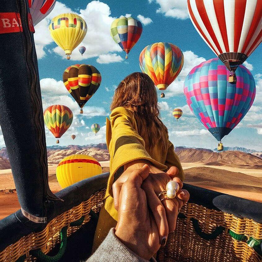 Полетать на воздушном шаре.