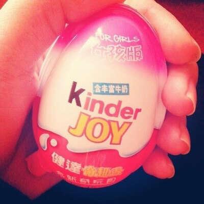 Kinder Joy для девочек (с розовым сверху)