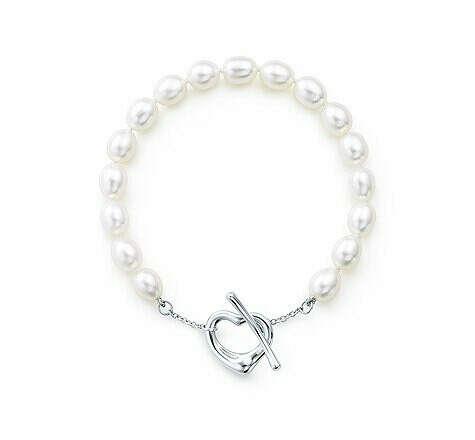 Браслет Tiffany&Co жемчужный с сердечком