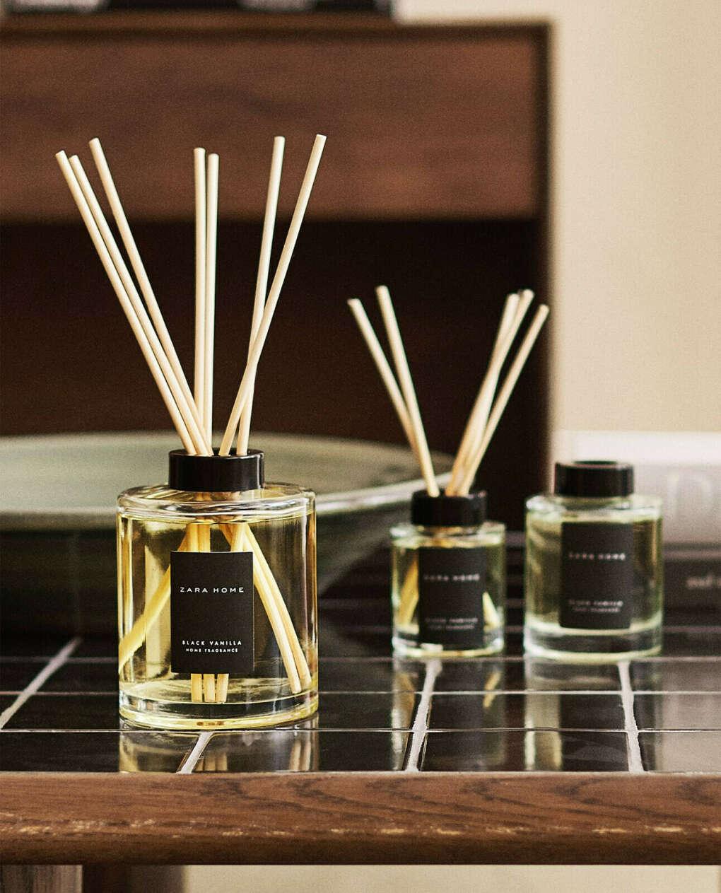 Диффузор с ротанговыми палочками Black Vanilla by Zara Home 500 ml