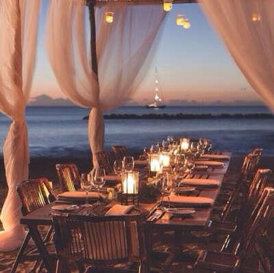 Ужин возле моря