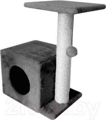 Комплекс для кошек Cat House С боковой полкой 0.58 (сизаль серый)