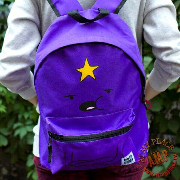 """Фиолетовый рюкзак """"Время приключений"""" - Принцесса Пупырка"""