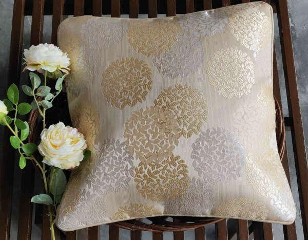 Soft Cream Self Weaved Cushion Cover – Set of 5