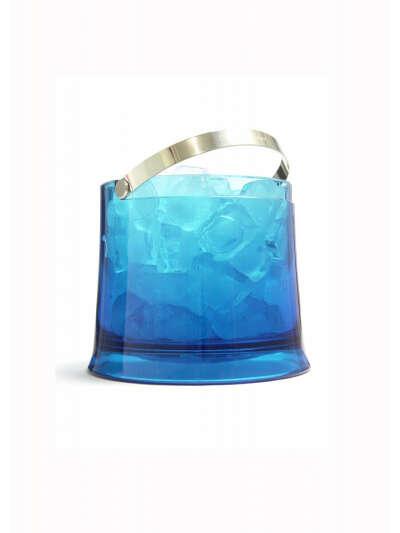 Ведро для льда голубое