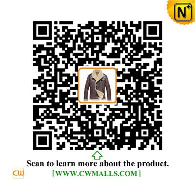 CWMALLS® Denver Patent Vintage Sheepskin Jacket CW807117