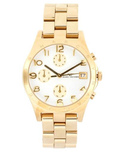 Золотые часы-браслет с хронографом Marc By Marc Jacobs