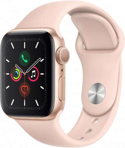 Apple Watch Series 5, 40 мм, корпус из алюминия золотого цвета