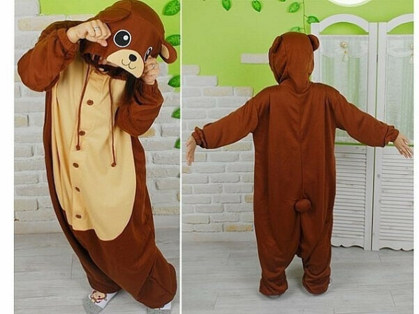 пижама-медведь