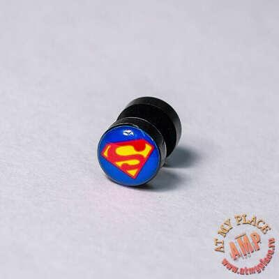 """Серьга-обманка """"Супермен"""""""