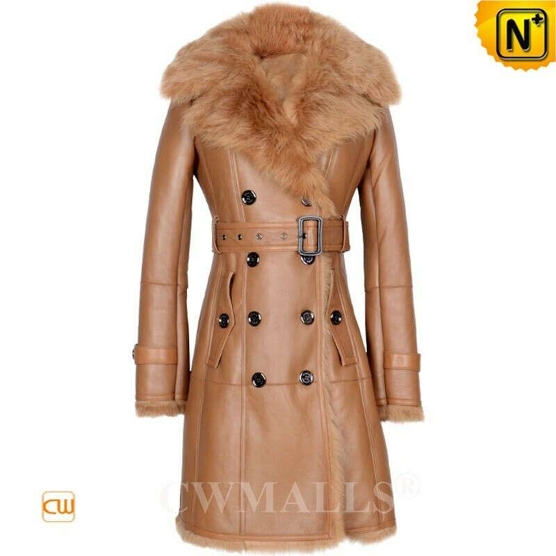 Women Sheepskin Coat | New York Custom Toscana Shearling Coat CW618015 | CWMALLS.COM
