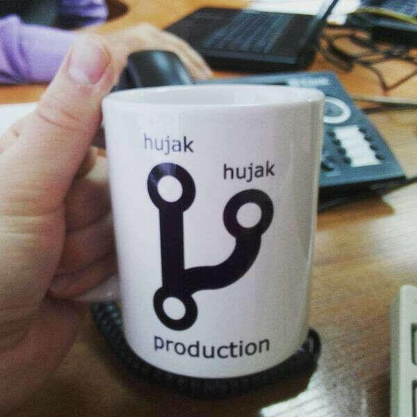 Кружка git hujak hujak production