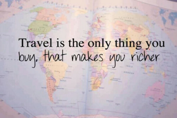 travelling all around the world