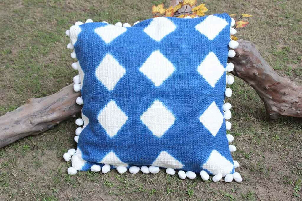 Diamond Patterned Dyes Cushion Cover – Set of 2