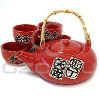 Набор для чайной церемонии, 6 предметов. Цвет: красный