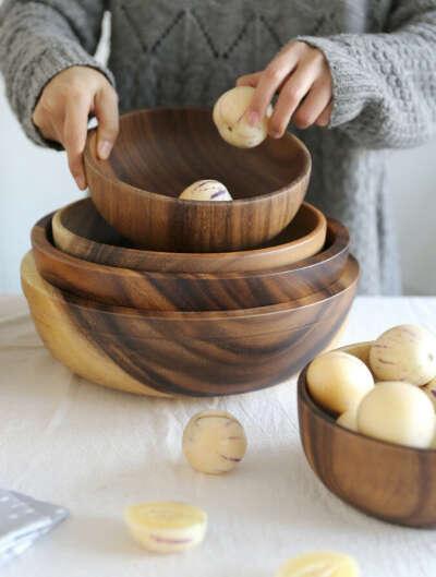 деревянные миски/миски из кокоса