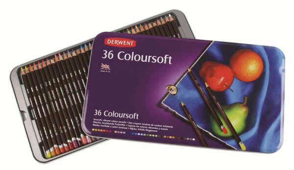 Набор цветных карандашей Derwent Coloursoft 36
