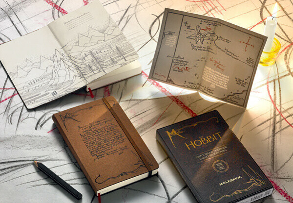 """Записная книжка """"Hobbit"""" в линейку в подарочной коробке (коричневая)"""