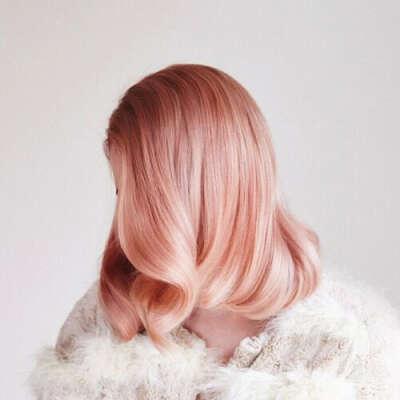 Pink blonde hair