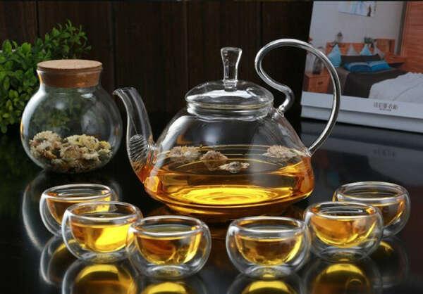 Стеклянный заварочный чайник 1000 мл