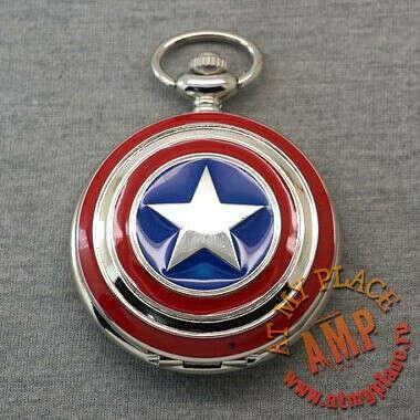 """Часы-кулон """"Капитан Америка"""""""