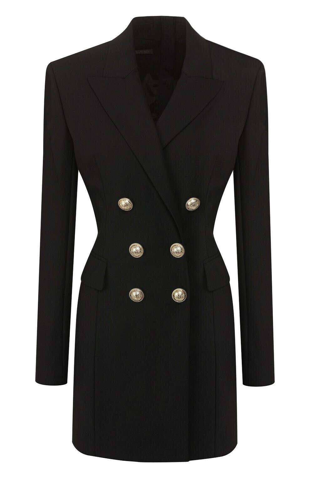 Женское черное платье BALMAIN — купить за 221500 руб. в интернет-магазине ЦУМ, арт. SF16118/W033