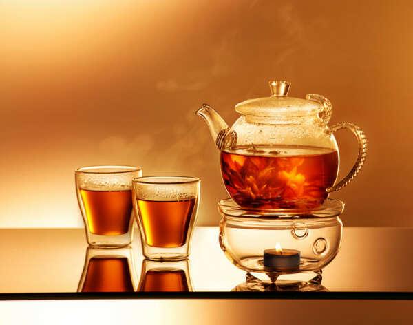 Чайник с подставкой со свечкой