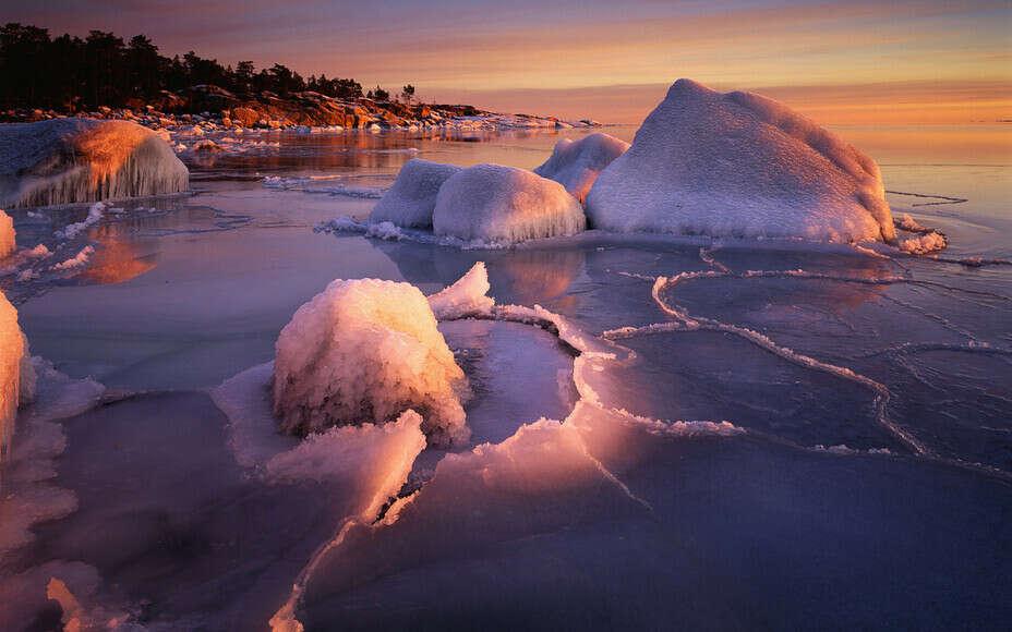 увидеть зимующее море