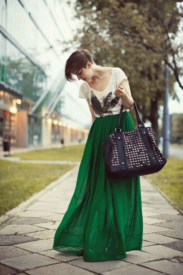 Длинную юбку