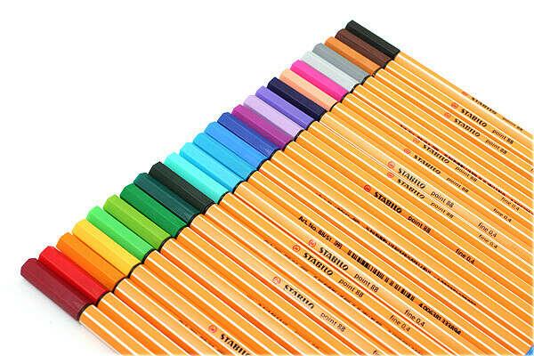 Цветные ручки Stabilo