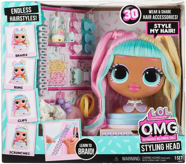Голова манекен для причесок L.O.L. Surprise! OMG Styling Head Candylicious -2