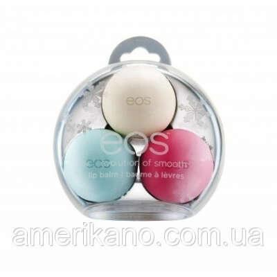 набор EOS из 3-х бальзамов для губ Smooth Sphere Lip Balm Limited