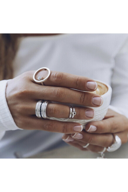 Фаланговое кольцо серебряное