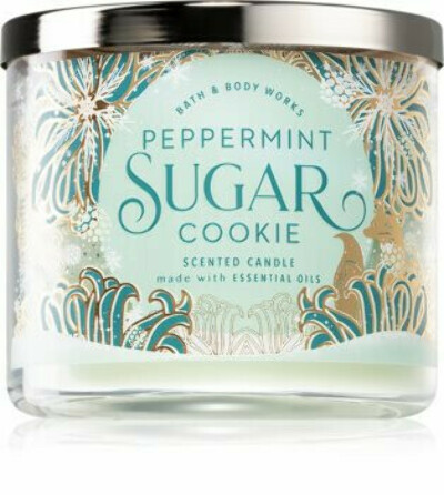 Bath & Body Works Peppermint Sugar Cookie 3-Wick Candle