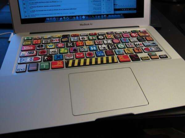Наклейки на клавиатуру для Macbook Air