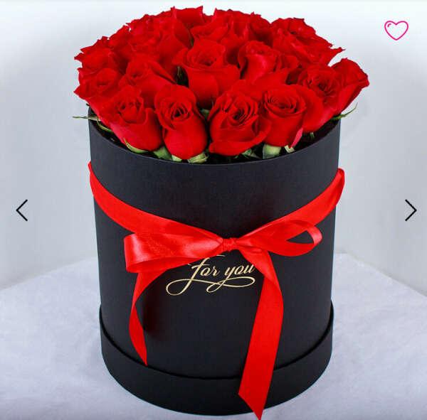 Букет ярко-красных роз